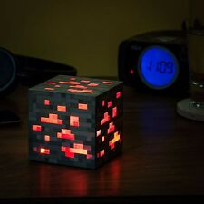 Minecraft DIAMOND minerale ILLUMINA LUCE NOTTURNA RED light-up TOY