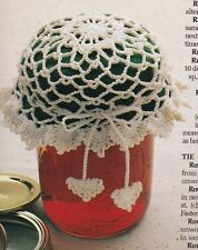 QUICK Thread Jar Lid Cover/Decor/Crochet Pattern INSTRUCTIONS ONLY