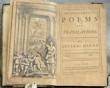 Miscellaneous Poems and Translations by Several Hands (Alexander Pope) 1712 RARE