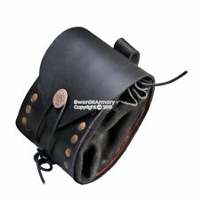 Medieval Renaissance Fair Costume Leather Belt Pouch Sachet Bag Pirate SCA LARP