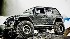 "Jeep Rubicon Truck- 42"" x 24"" LARGE WALL POSTER PRINT NEW."