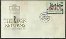 AUSTRALIA 2014 ASHES CRICKET VICTORY $2.60 PEEL & STICK  FDC FIRST DAY COVER