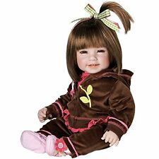 Reborn Baby Doll Realistic Lifelike Silicone Newborn Brown Hair Girl Soft Asian