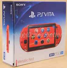 New PS Vita PCH-2000 ZA26 Metallic Red Wi-Fi Console Sony PlayStation