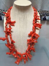 NWOT Long Faux Orange Coral Statement Necklace Anthropologie