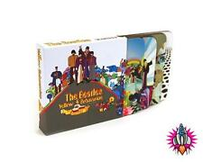 THE BEATLES YELLOW SUBMARINE COFFEE MUG CUP COASTERS SET OF 4 NEW IN  CASE