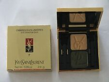 YSL EYESHADOW DUO - #7 ANTIQUE GOLD/BRONZE GREEN - NIB