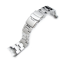 22mm Super Oyster Type II watch band for SEIKO Diver SKX007/009/011 Curved End