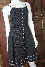 ruby rox * Gepunktetes Kleid * Rockabilly * Vintage-Look * Schwarz Rosa * 7-XS/S