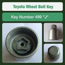 "Genuine Toyota Locking Wheel Bolt / Nut Key 499 ""J"""