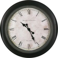 30 in Huge Black Classic Round Wall Clock Large Clocks Traditional Living Room