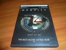 Gravity (DVD, 2013 Special Edition - 2-Disc) George Clooney, Sandra Bullock Used