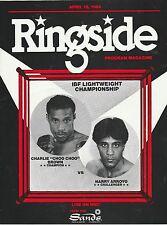 RINGSIDE ONSITE BOXING PROGRAM CHARLIE BROWN vs HARRY ARROYO APRIL 15,1984