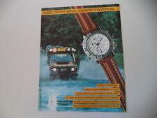 advertising Pubblicità 1991 CAMEL TROPHY WATCH SUPERCHRONO