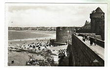 St Malo - Les Remparts Real Photo Postcard c1929