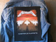 METALLICA AMASTERS OF PUPPETS  BACKPATCH BACK PATCH   LARGE / HEAVY METAL BLACK
