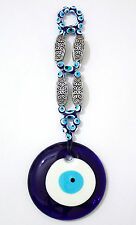 """Large Glass Evil Eye Wall Hanging Deco 3.1.x8.6"""" Amulet Charm Good Luck Success"""