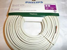 PHILIPS 75FT PHONE AND PC ROUND WIRE EXTEND EXISTING WIRING FOR PRE-WIRE USE