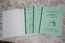 Library of Service Manuals for Singer Sewing Machines of Classes 604 and 629.