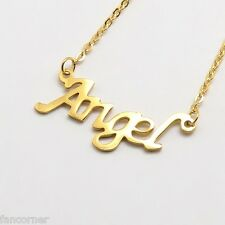 Buffy necklace Angel stainless steel golden Angel pendant in stainless steel