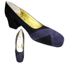 Suede Pumps Heels Shoes $300 BRUNO MAGLI 9.5 AAA Deep Purple Black Brown MidHeel