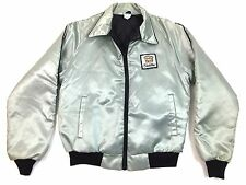 Vintage Cadillac Silver Satin Jacket Adult Medium