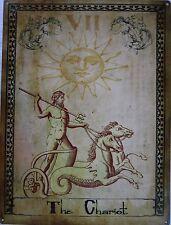 The Chariot Tarot Card Vll Metal Sign