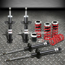 DNA GAS SHOCK ABSORBER STRUTS+RED SCALE COILOVER SPRINGS FOR 93-98 VW JETTA/GOLF