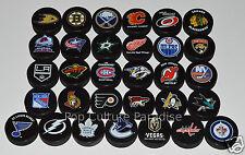 "HOCKEY PUCKS ALL 31 NHL TEAMS Complete Set ""Basic"" Logo Puck Lot w/LAS VEGAS"