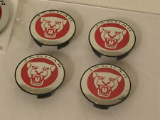 NEW GENUINE JAGUAR RED WHEEL CENTRE CAPS BADGES XF XJ XF F-TYPE X-TYPE
