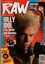 Billy Idol on RAW Cover 1990   Soundgarden   Megadeth   Alice Cooper   Marillion