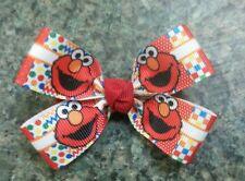 Sesame Street elmo hairbow toddler baby girl nonslip alligator clip red