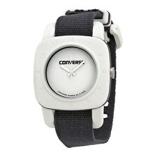 Converse 1908 Matte White Dial Black Canvas Unisex Watch VR-021-001