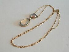 Fine 9ct / 9k 375 gold Victorian moonstone necklace