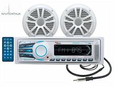 KIT RADIO STEREO BARCA NAUTICO BOSS MARINE MR1308UAB BLUETOOTH + CASSE E ANTENNA