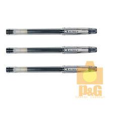 Pilot Hi-Tec-C 0.4mm punta de la Aguja Bolígrafo Gel Pluma/Negro 3PCS