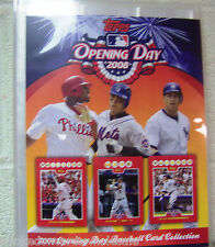 Lot of 10 -2008 Topps Opening Day Collectors Album with 12 pages holds 108 cards