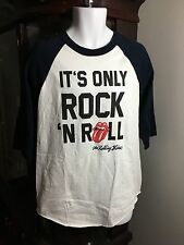 Men's The Rolling Stones 50 Year Its Only Rock And Roll 3/4 Sleeve Graphic T