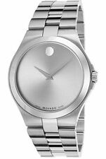 Movado Serio 0606556 Silver Dial Stainless Steel Men's Watch