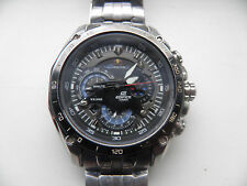 USED CASIO EDIFICE EF-550RBSP-1AV RED BULL MENS DIVERS CHRONOGRAPHCHROME/BLACK
