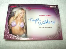 TNA Wrestling Autograph Card Knockouts Signature Curves Taylor Wilde KA13