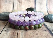 Healthy Pregnancy Stack. Pregnancy Bracelet. Fertility Bracelet. Rose Quartz.
