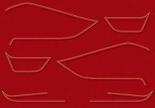 1976 Kawasaki KZ900LTD - Classic Red decal set