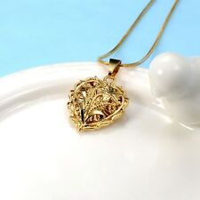 "NEW 18K Yellow Gold Filled Heart Pendant Lovely Necklace 20""Link Free Shipping"
