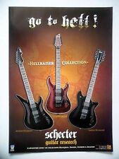 PUBLICITE-ADVERTISING :  Guitares SCHECTER  10/2007 Hellraiser Collection