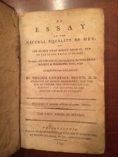 Very RARE 1793 Philadelphia Essay on the Natural Equality of Men, Brown, 1st ed.