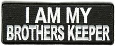 I AM MY BROTHERS KEEPER VETERAN EMBROIDERED IRON ON PATCH