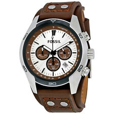 Fossil Men's CH2565 Coachman Chronograph Two-Tone Dial Brown Leather Watch