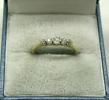 Beautiful Vintage 18ct Gold And Platinum Five Stone Diamond Ring