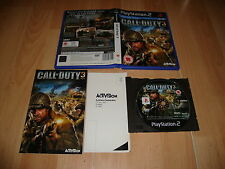 CALL OF DUTY 3 BY ACTIVISION FOR SONY PLAY STATION 2 PS2 UK VER. USED COMPLETE